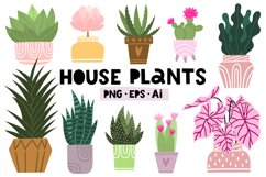 Potted house plants clip art set for your unique design Product Image 1