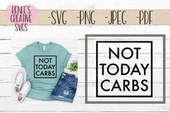 Not today carbs | Diet SVG | SVG Cutting File Product Image 1