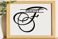 F Split monogram SVG Split letter svg Monogram font Product Image 3