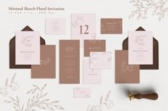 Minimal Sketch Floral Invitation Suite Product Image 1
