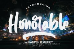 Honorable - Handwritten Brush Font Product Image 1