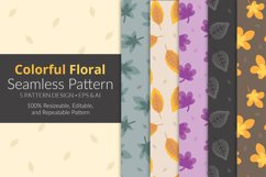 Colorful Floral Seamless Pattern Pack Product Image 1
