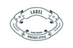 Vintage style labels set. Product Image 2