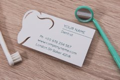 Dentist business card template cutting file Product Image 3