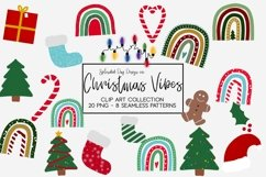 Christmas Vibes clipart and seamless patterns Product Image 1