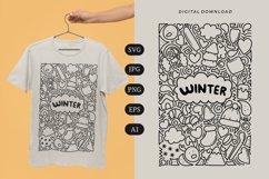 Winter Doodle T-shirt   SVG Product Image 1