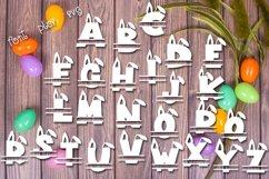 Web Font Snuggle Bunny Font Plus Easter Monogram Font Product Image 3