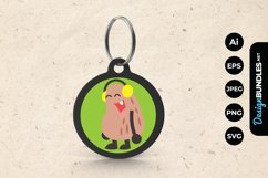 Cute Monster Wearing Headphone Keychain Product Image 1