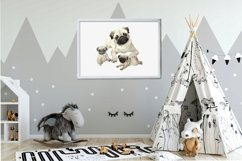 Mom and baby animals, watercolor clipart,Mothers day Product Image 4