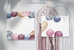 Knitting and Crochet. Watercolor collection Product Image 4