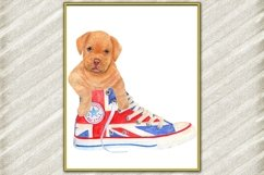 Cute dog digital print ,Puppy Posters, Funny dog print Product Image 1