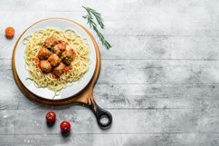 20 Photos Pasta background. Spaghetti with different sauces Product Image 4
