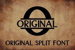 Original Split Font - A Monogram Font Product Image 1