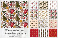 Happy winter holiday collection. Patterns,cliparts,postcards Product Image 2