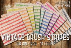 Vintage Brush Stripes Digital Papers Product Image 2