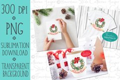 Welcome Home Wreath - PNG Christmas Sublimation Design Product Image 2