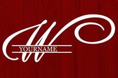 W Split monogram SVG Split letter svg Monogram font Product Image 3