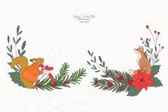 Christmas Woodland Animals Clipart Product Image 6