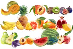 Watercolor fruits and berries Product Image 3