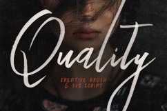 Quality SVG Bold Brush Script Product Image 1