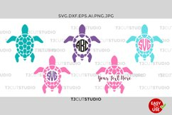 Sea Turtle Monogram SVG, Sea Turtle SVG,Sea Turtle SVG, Sea Turtle Silhouettes Sea Turtle Monogram, Svg, eps, Silhouette Files, Cricut Files Product Image 1