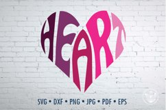 Heart SVG cut file in a Heart Shape Product Image 1