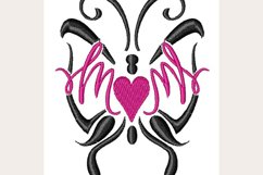 Mom Butterfly Heart - Machine Embroidery Design Product Image 1