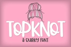 Top Knot - A Quirky Caps Font Product Image 1