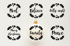 Christmas Ornaments Rounds Bundle SVG Product Image 3