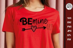 Be mine svg, Valentines day svg, Girl's valentine svg, Product Image 1