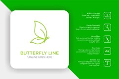 Creative Monoline Butterfly Logo Product Image 1