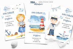 Watercolor Sea adventure. Clipart, seamless patterns, cards Product Image 2