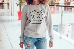 Cat svg Cute cat svg Product Image 3