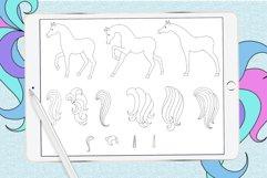 Unicorn procreate stamp brushes Product Image 2