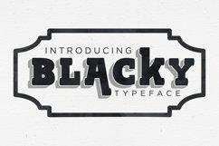 BLACKY Typeface Product Image 1