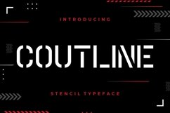 Coutline Stencil Typeface Product Image 1