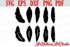 Feather SVG Feather Bundle SVG Feather Vector Digital File Product Image 1
