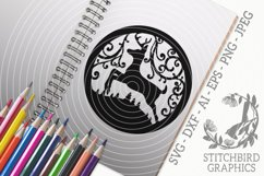 Leaping Stag SVG, Silhouette Studio, Cricut, Eps, Dxf, Jpeg Product Image 1
