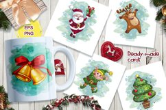 Merry Christmas. Characters, stickers, cards. Product Image 3