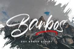 Banbos - Dry Brush Script Product Image 1