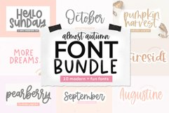 Font Bundle - Handwritten Fonts for Crafters - Almost Autumn Product Image 1
