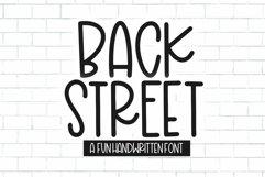 Web Font Back Street - A Fun Handwritten Font Product Image 1