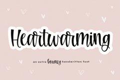 Heartwarming - A Bouncy Handwritten Script Font Product Image 1