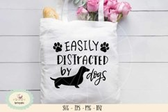 Easily distracted by dogs SVG cut file, dog lover Product Image 1