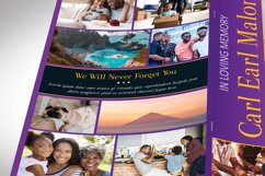 Purple Gold Funeral Program Word Publisher Template 8 Pages Product Image 6