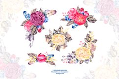 Watercolor boho flowers and crystals Product Image 4