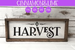 Thanksgiving SVG - Harvest Fall Wood Sign Product Image 1