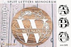 Monogram Letters SVG. Monogram Split Letters. Split Letters Product Image 1