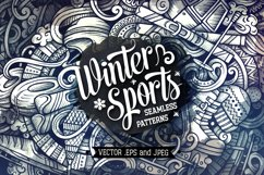 Winter Sports Graphics Doodle Patterns Product Image 1