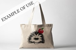 Hedgehog with apple. JPG, PNG, EPS Product Image 3
